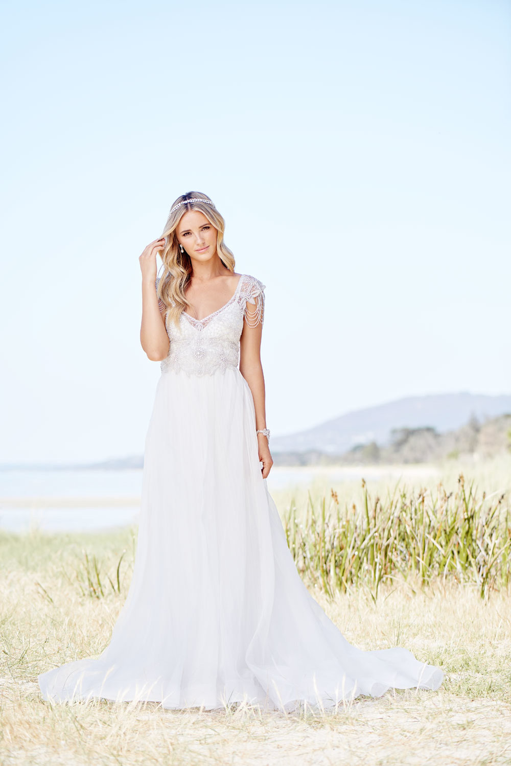 Anna Campbell Grace Dress | Vintage-inspired hand-embellished wedding dress