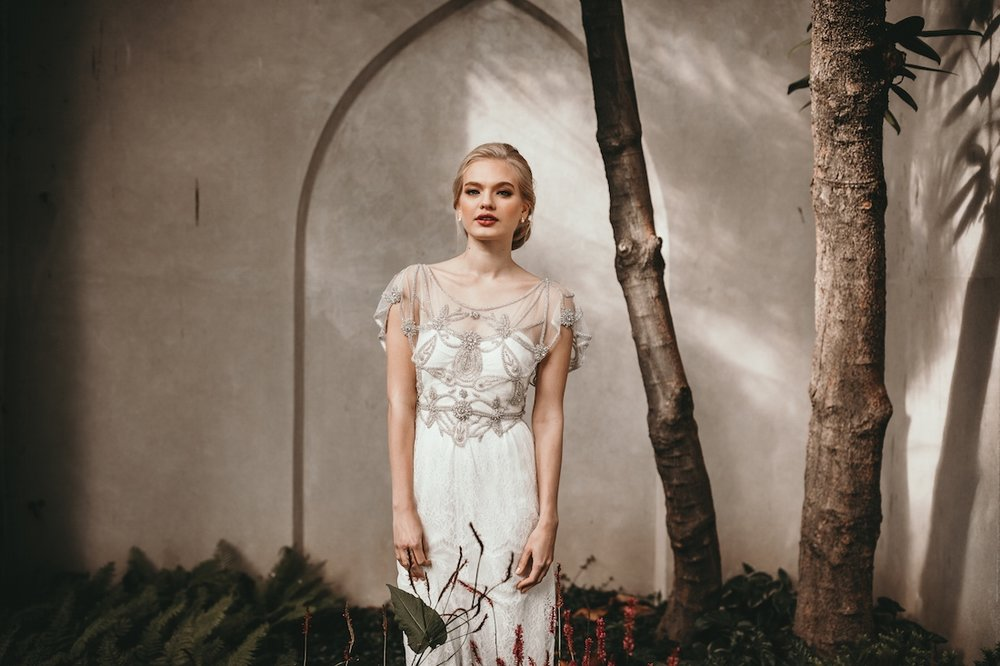 Anna Campbell Adelaide Dress | Vintage inspired embellished wedding dress for bridal beauty