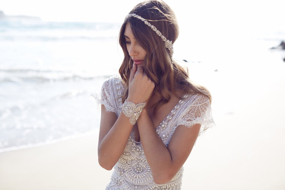 Anna Campbell Coco Dress | Vintage inspired embellished wedding dress