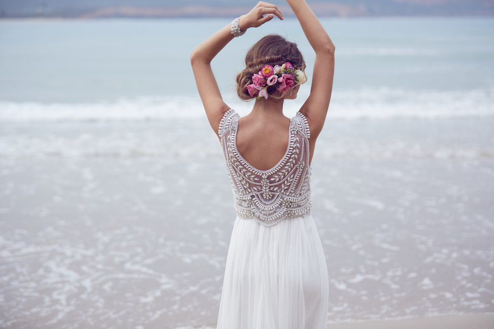 Anna Campbell Madison Dress | Vintage inspired embellished wedding dress