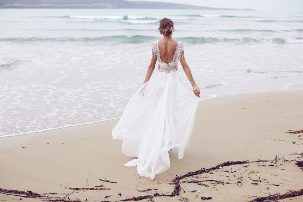 Anna Campbell Sierra Dress | Vintage inspired embellished wedding dress