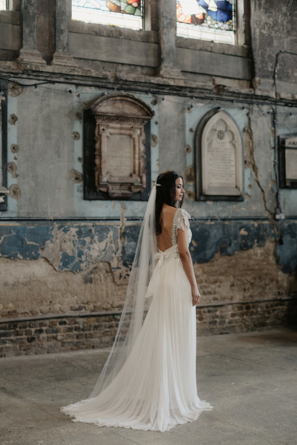 Anna Campbell Annabella Dress | Vintage-inspired embellished wedding dress