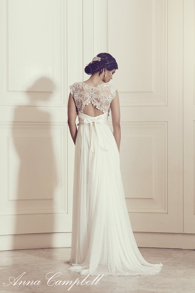Anna Campbell Bridal Carolina Dress | Vintage-inspired ivory beaded wedding dress
