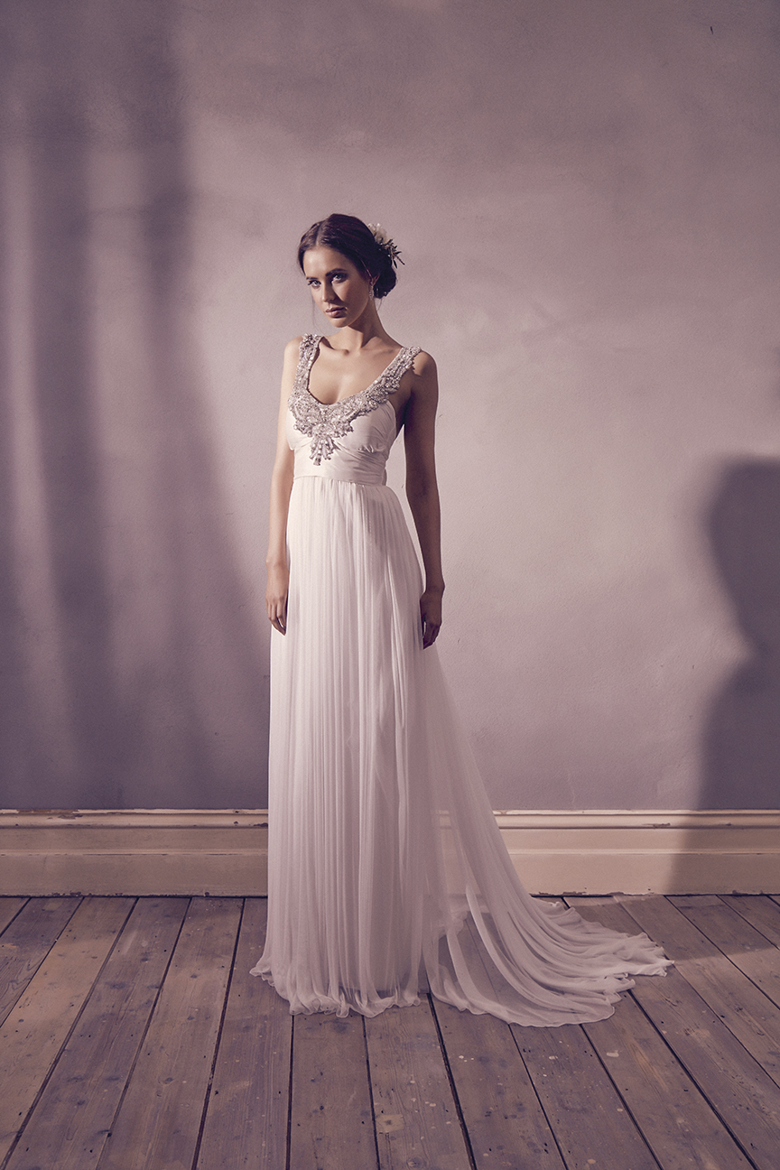 Anna Campbell Bridal Amity Dress | Vintage-inspired Old-Hollywood embellished wedding dress