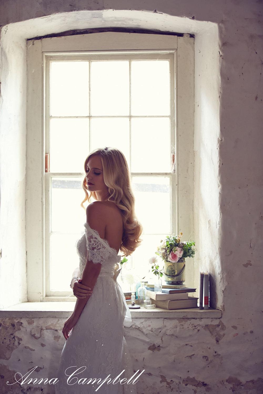 Anna Campbell Bridal Eloise Dress | Vintage-inspired embellished beaded lace wedding dress