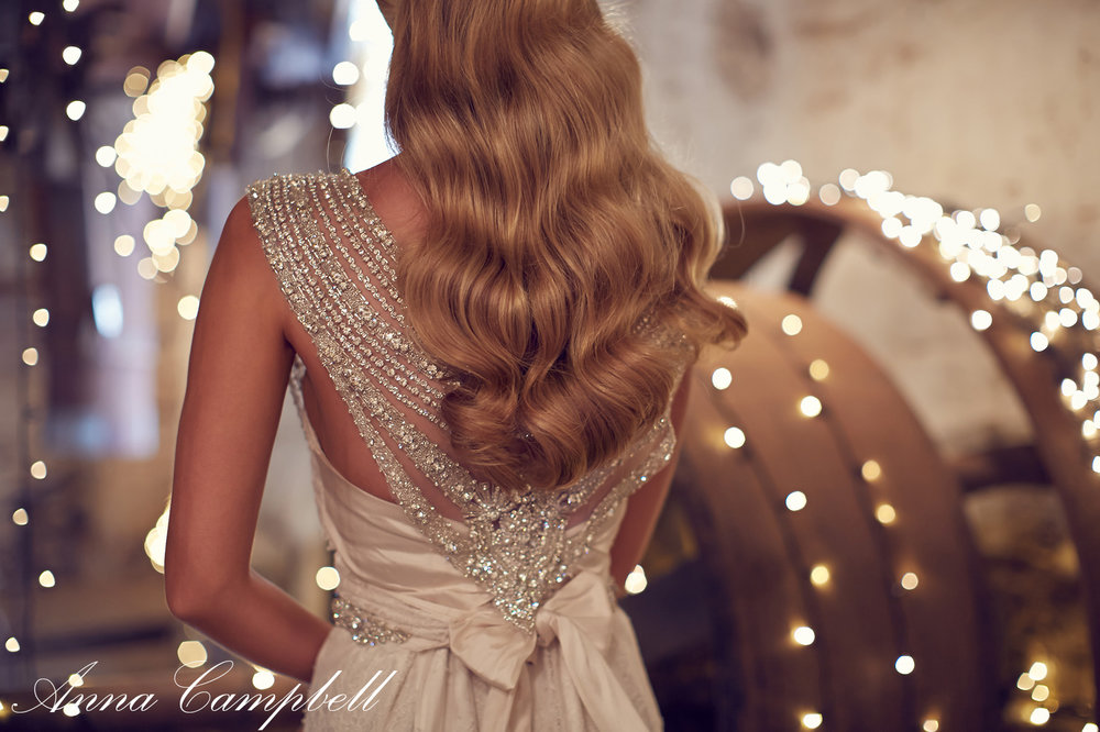 Anna Campbell Bridal Giselle Dress | Vintage-inspired embellished back detail wedding dress