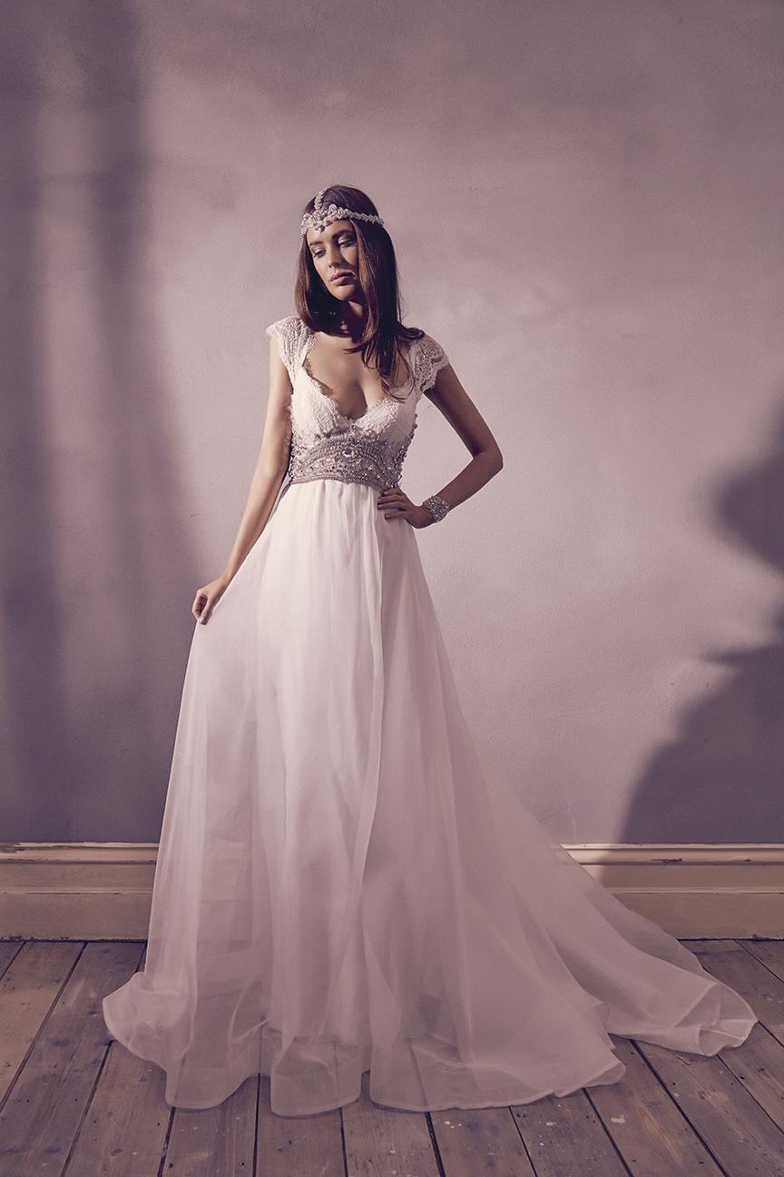 Anna Campbell Bridal Harper Dress | Vintage-inspired embellished lace wedding dress