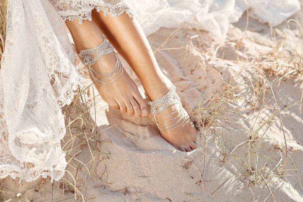 Anna Campbell Mahalia Bridal Footcuffs