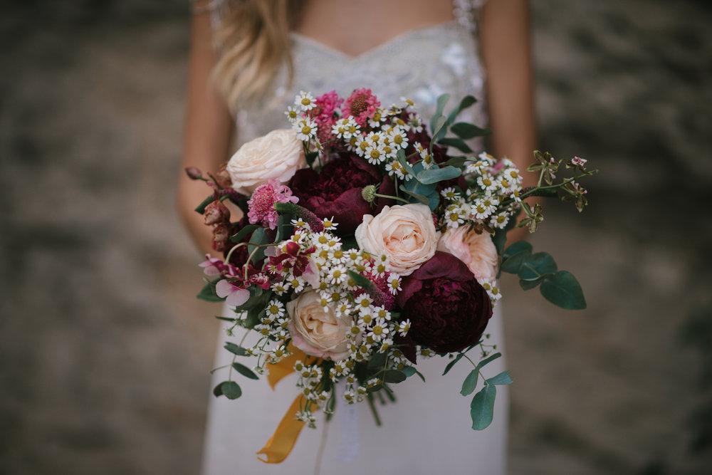 Berry toned bridal bouquet