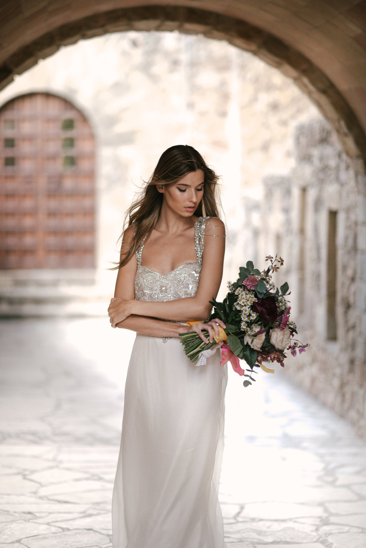Anna Campbell Bridal | Chloe Dress | Vintage Inspired Beaded Wedding Dress