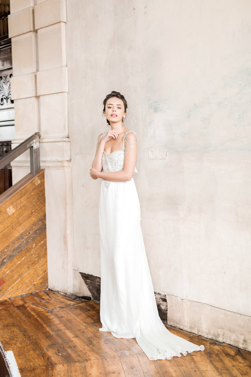 Anna Campbell Bridal | Chloe Dress | Vintage Inspired Beaded Wedding Dress | Eternal Heart Collection