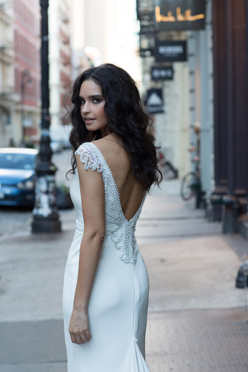 Anna Campbell Bridal | Blake Dress | Fitted Crepe Wedding Dress