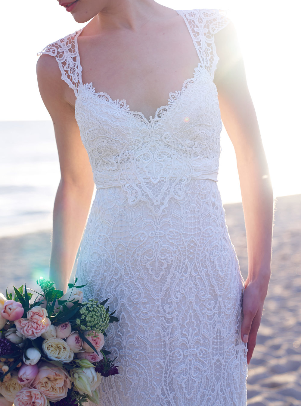 Anna Campbell Bridal Eleanor Wedding Dress | Vintage Inspired Bridal Gown with Unique Lace Back Details