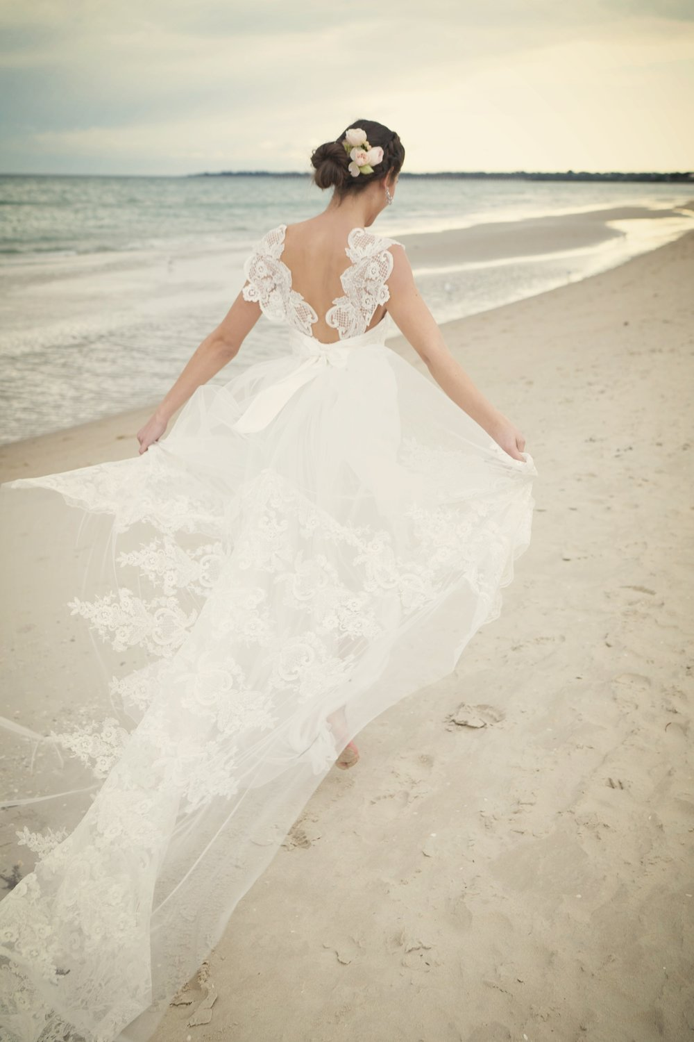 Anna Campbell Bridal Savannah Wedding Dress | Vintage Inspired Bridal Gown with Unique Lace Back Details