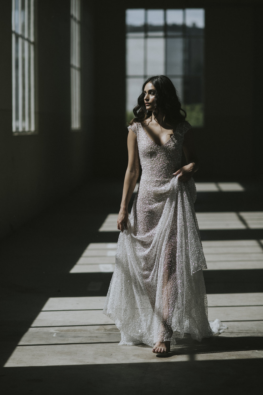 Anna Campbell Bridal | Sydney Dress | Sequin Wedding Dress
