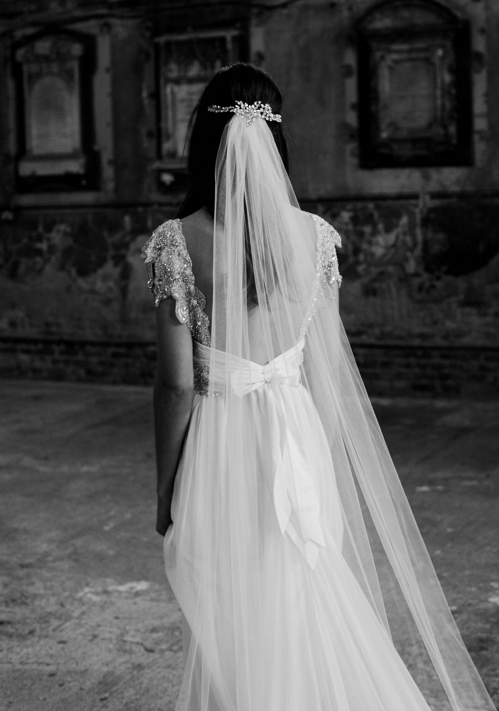 4. Can I still wear a headpiece? - Yes! In fact most of our brides will choose to pair their veil with either a hand-beaded headpiece or a sparkly, embellished comb.Simply place your embellished comb or headpiece over the top of your veil.After the ceremony and photos, you can simply take the veil out, leaving your beautiful headpiece or comb in place for the reception!Pictured: The Alexandria Headpiece worn with the Ashantha Veil.