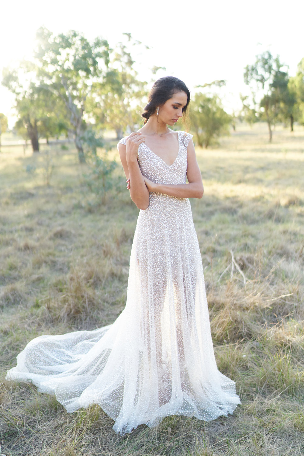 Anna Campbell Bridal | Sequin Sydney Wedding Dress | orders@annacampbell.com.au