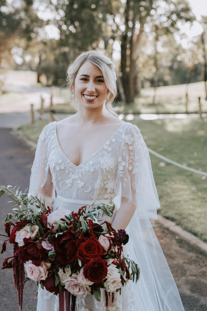 """""""The dress I chose matched my personality, and not only did I love how the dress looked on me, more importantly I loved how it made me feel – immensely happy, beautiful and like my best self!"""" -"""