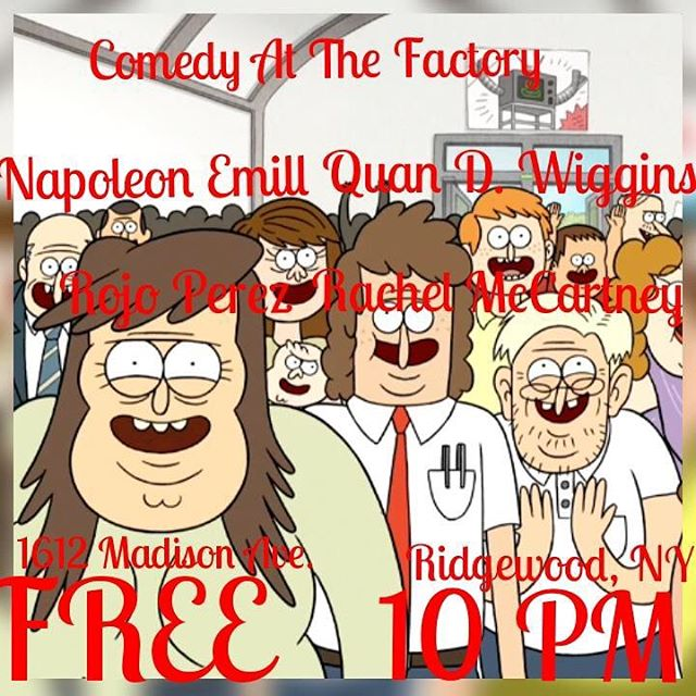 Comedy! At the Factory! This Suturday!!! Come have some laughs!  #saturday #comedy #show #thefactorybk #bar #restaurant #craftbar #craftcocktails #drinks #dranks #cocktails #food #goodfood #burger #fries #salmon #chickenwings #brooklyn #ny #nyc #bushwick #ridgewood #queens