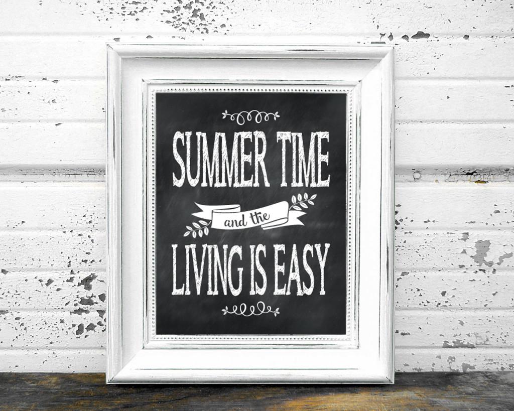 Summertime framed