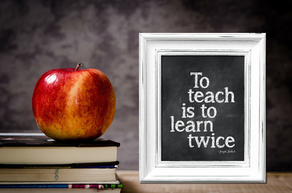 To teach is to learn twice