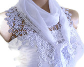 Traditional Turkish-style, Necklace scarves,Headband, scarf, White,  fashion 2014, Special Fahion, spring celebration