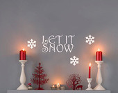 Christmas Decal - Let It Snow