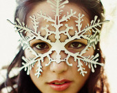Snowflake leather mask in white - Nutcracker - Frozen