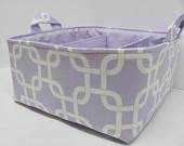 NEW Fabric Diaper Caddy - Fabric organizer storage bin basket - Perfect for your nursery - Geometric Purple