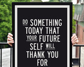 """Motivational Print Typography Poster """"Do Something Today"""" Wall Decor Inspirational Print Home Decor Winter Gift New Year Resolution"""