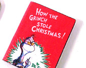Miniature Christmas Book for Your Dollhouse - How the Grinch Stole Christmas
