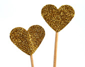 20 Toothpicks heart Double Sided- Party Picks, Cupcake Topper, Baby Shower Decoration, Birthday Pick