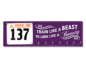 Running Medal Holder and Race Bib Hanger - Train Like a Beast to Look Like a Beauty