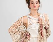 Bohemian wedding dress,Tiered wedding dress,Festival dress,New years dress,Boho dress,Summer wedding dress,Maxi Bridal Wedding Gown