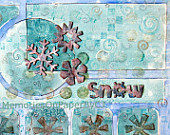 Blue Mixed Media Collage, Snow