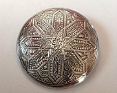 Silver Brooch with Native American Design.  UNISEX.