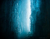 Blue Ice Cave | Fine Art Nature Photography Print | Winter, Lake Superior, Frozen, Pictured Rocks National Lakeshore