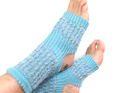 Hand Knit Yoga Socks, Pilates Socks, PiYo Socks, Dance Socks, Pedicure Sox, Hand Painted Yarn, Blue Yoga Sox, Slipper Socks, MADE TO ORDER