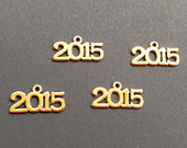 Year 2015 Charm Antique Gold (4), New Year 2015 Class of 2015, Graduation 2015, Number Charm