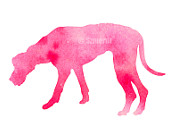 Great Dane, Watercolor poster, Pink Children's Wall, Art Home Decor, Dog watercolor, Animal watercolor, Great Dane art, Pink dog art