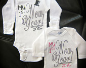 Baby's 1st New Year! onesie gift novelty Happy New Year!