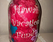 Hawaii Vacation Fund Mason Jar Bank