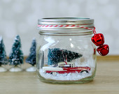 Car in Mason Jar Snow Globe Kit – Red Chevy Bel-Air