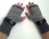 Fingerless  gloves   for  men's    Made  of  wool  all  sizes  FREE  SHIPPING