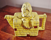 Vintage Lingard Yellow Humpty Dumpty Teapot Made in England