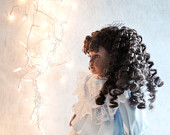 The Christmas Doll ~ Black American 18 Inch Fine Porcelain Bisque Collectors Doll, Gift for Mom, Grandma, Child Gift Doll /0299