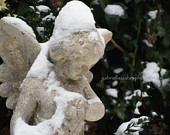 Winter Fine Art Photography, London Photography, Highgate Cemetery, Angel Photography, Poster and Prints, Snow, Christmas Gift