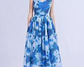 Party dress, New Year's dress, new look dress, 50s dress, 1950s dress, floral dress by Mrs Pomeranz