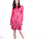 Boxing Day SALE 60% OFF - Fuchsia Pink  Sequin Cocktail Dress  -  Sequin Dresses -  New Years Dresses  - The Twinkle Twinkle  Dress - 6044