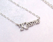 Kiss Me Necklace, Sterling Silver Necklace, romance, rhodium, kiss necklace, spring fashion, summer fashion, matte, simple, minimal, love